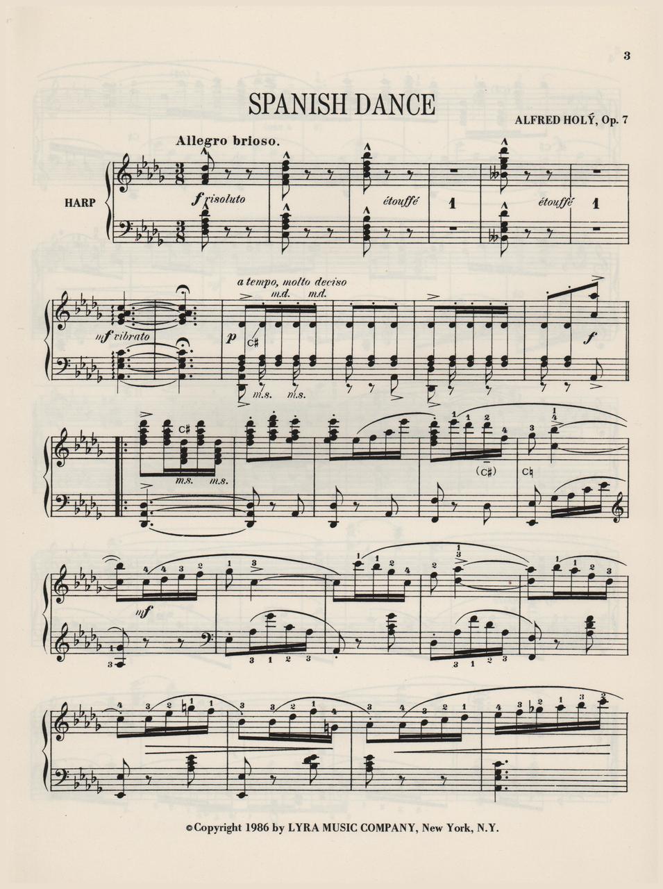 Holy, Spanish Dance, Op  7