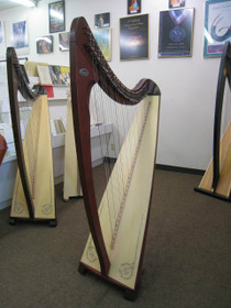 New Livia Lever Harp (Maghogany) floor model for demo