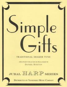 Burton, Daniel: Simple Gifts (solo harp) - Downloadable