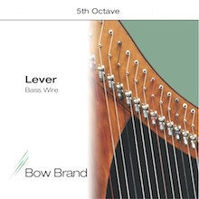 Lever Bass Wire, 5 Wire Set (5th Octave E through 5th Octave A)