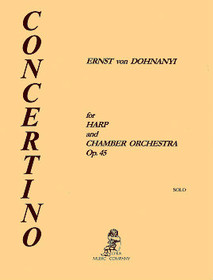 Dohnanyi: Concertino for Harp & Chamber Orchestra Op. 45 (Hp only)