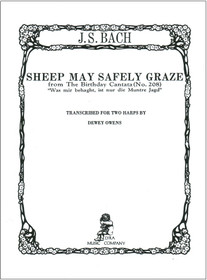 Bach, J.S./Owens: Sheep may Safely Graze (from The Birthday Cantata No.208) for two harps
