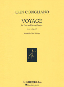 Corigliano: Voyage for Flute and String Quartet(Score and Parts)