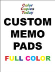 MEMO PADS, NOTEPADS, SCRATCH PADS!! 24 Custom Full Color  - $19.95