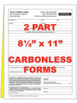 2 Part Custom Carbonless NCR Forms - From $33