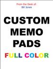 MEMO PADS, NOTEPADS, SCRATCH PADS!! - 16 Custom Full Color  - $14.95