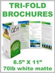 Tri-fold Brochures 70lb white matte