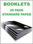 Booklets / Programs - 20 page Standard from $1.76 each