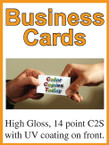 Business Cards - Single Sided Full Color - From $28.50