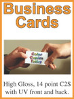 Business Cards - Double Sided w/UV both sides - From $52.25