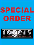 Halo Graphics - 100 color Funeral Programs 8.5 X 11 folded in half, 80lb full bleed, Gloss Cover stock = $68.00