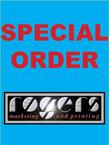 "Dooley - 100 each of 5 - 4/4 Jumbo 6"" X 9"" cards = $117.50"