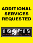 1 - ADDITIONAL SERVICES REQUESTED