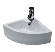 325mm x 325mm Corner Cloakroom Basin