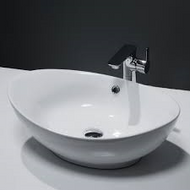580mm x 385mm Oval Counter Top Basin