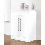 500mm Idon Gloss White 2 Door Unit - gloss white
