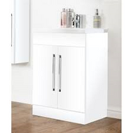 600mm Idon 2 Door Unit - gloss white
