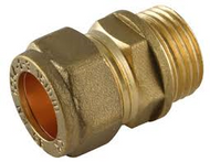 "15mm x 1/2"" Coupler C x MI Compression Fitting"