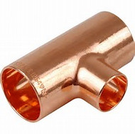 22mm x 22mm x 15mm REDUCER TEE END FEED
