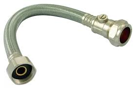 """22mm x 3/4"""" Flexi Tap Connector C/W ISO VALVE 300mm"""