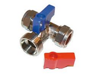"15mm x 3/4"" Washing Machine Valves Tee"