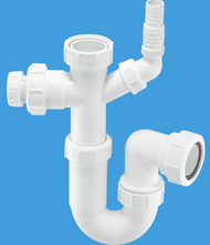 ASC10 - CO Tubular Swivel Sink Trap with WM and 19/23mm pipe connection