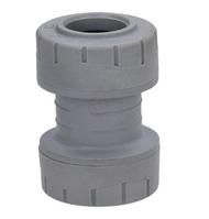 15mm Polyplumb Grey Push-Fit Coupler (pack 20)