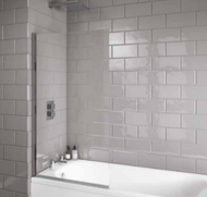 Scudo i6 Square Edge 6mm Thick Bath Screen