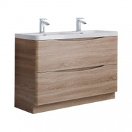 1200mm Envy Floor Standing Vanity Unit - light oak