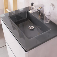 1200mm Grey Glass Basin
