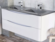 1200mm Envy Wall Mounted Vanity Unit - gloss white