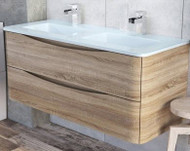 1200mm Envy Wall Mounted Vanity Unit - light oak