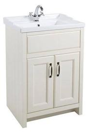 615mm Chartwell 2 Door Cabinet With Basin - Vanilla