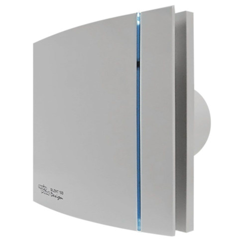 SILENT 100 Quiet WC & Bathroom Extract Fan - silver