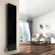 The Reina Flat Double Panel Anthracite Designer Vertical radiators are made using superior quality steel and is built to last long and comes with an impressive heat output to quickly warm up the entire room. Manufactured from mild steel, this stylish radiator is beautifully finished in anthracite for a contemporary look. Double Panel Vertical Radiator is ideal for any modern and contemporary interior with its minimalist flat paneled design.Also  Available in white finish, these flat vertical radiators are one of many stunning designs from Reina. Comes with a 5 years guarantee from the manufacturer.  Key Features:  Comes in Anthracite finish High-Quality Welding Strong and reliable Delivering superb heat output Easy to installation and Clean Offered in the size of 1800mm x 514mm Heat Output Delta T50: 7268 BTUs / 2131 Watts -- Heat Output Delta T60: 9303 BTUs / 2728 Watts Suitable for Central Heating Systems only Manufactured from high-Quality Steel Material 5 years Guarantee from Manufacturer Supplied with: Product includes Brackets, Fixing Kit, Air Vent, Blanking Plug as standard.  Not included: Accessories such as Valves, Pipe Covers, and Towel Bar/Hangers are sold separately.