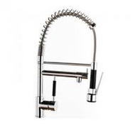 Kitchen Mixer Tap with Flexible Spray & Swivel Spout