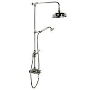 Traditional Thermostatic Bar Valve with  Grande Rigid Riser Shower Set and Diverter