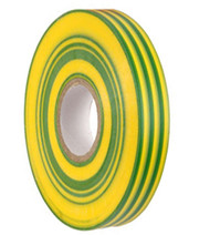 PVC TAPE 19mm x 33M Green/Yellow (10)
