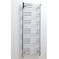 500mm x 1600mm Hayle Curved Towel Radiator