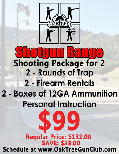 Rifle Range Package for Two Includes: 2 - Range Fees 2 - Firearm Rentals 2 - Boxes of 12GA Ammunition and Personal Instruction!