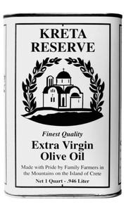 Kreta Reserve extra virgin olive oil quart can