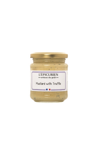Dijon mustard with black truffle, imported from France