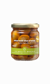 Mahjoub green olives with harissa 7 ounces