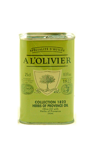 A L'Olivier herb de Provence olive oil flavored with thyme, basil, rosemary and dill