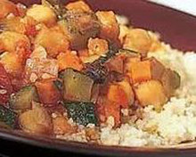 Moroccan stew over couscous