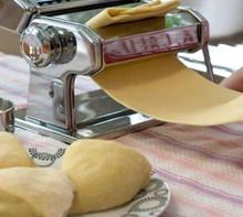 Hand cranked pasta machine