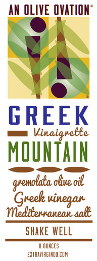 Greek Mountain salad dressing label