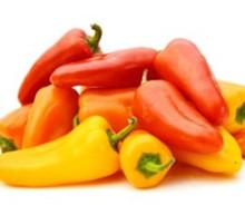 Fresh mini sweet peppers