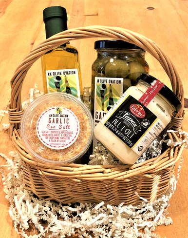 Garlic lovers gift basket