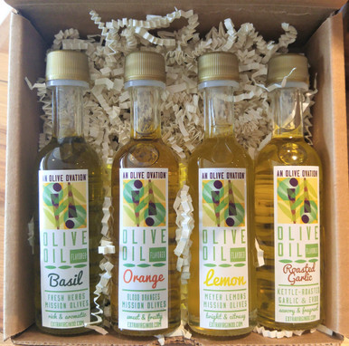 Flavored olive oil sample gift set